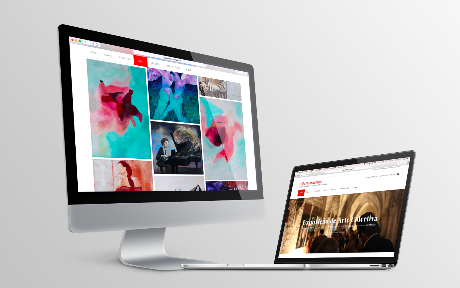 Cruz Vermelha Portuguesa Mockup Website