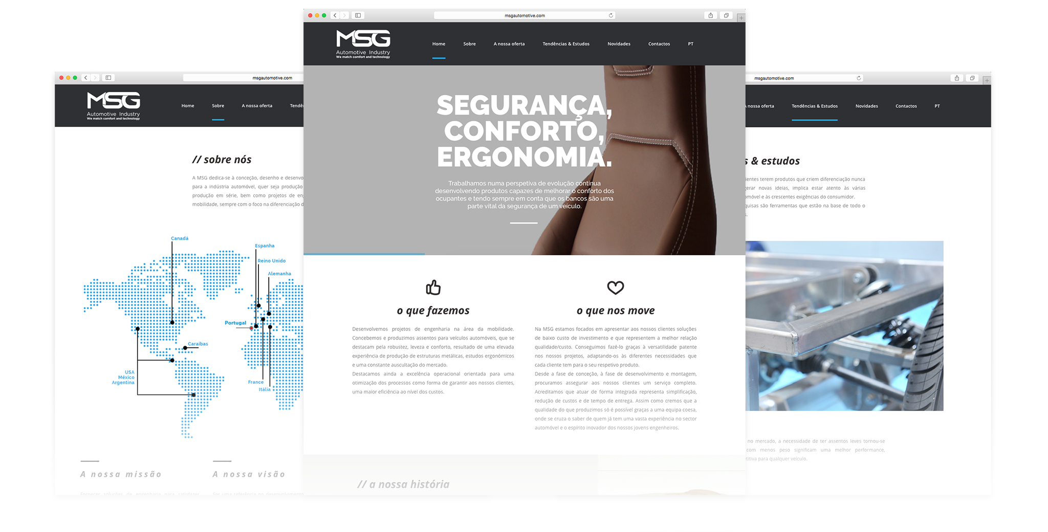 Criação de websites - MSG Automotive