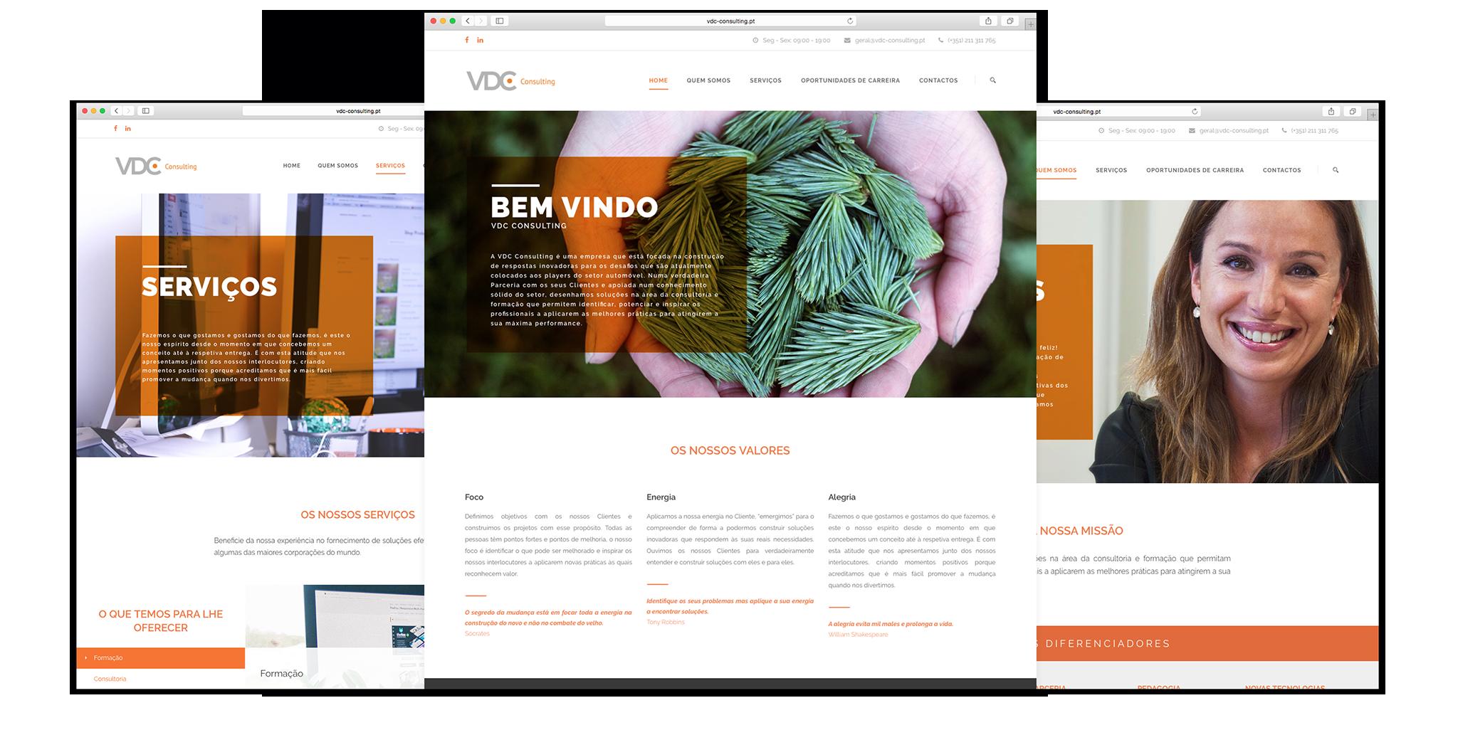 Criação de websites - VDC Consulting