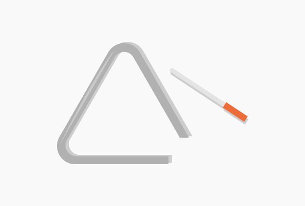Triângulo. Aplicação Música 6. A